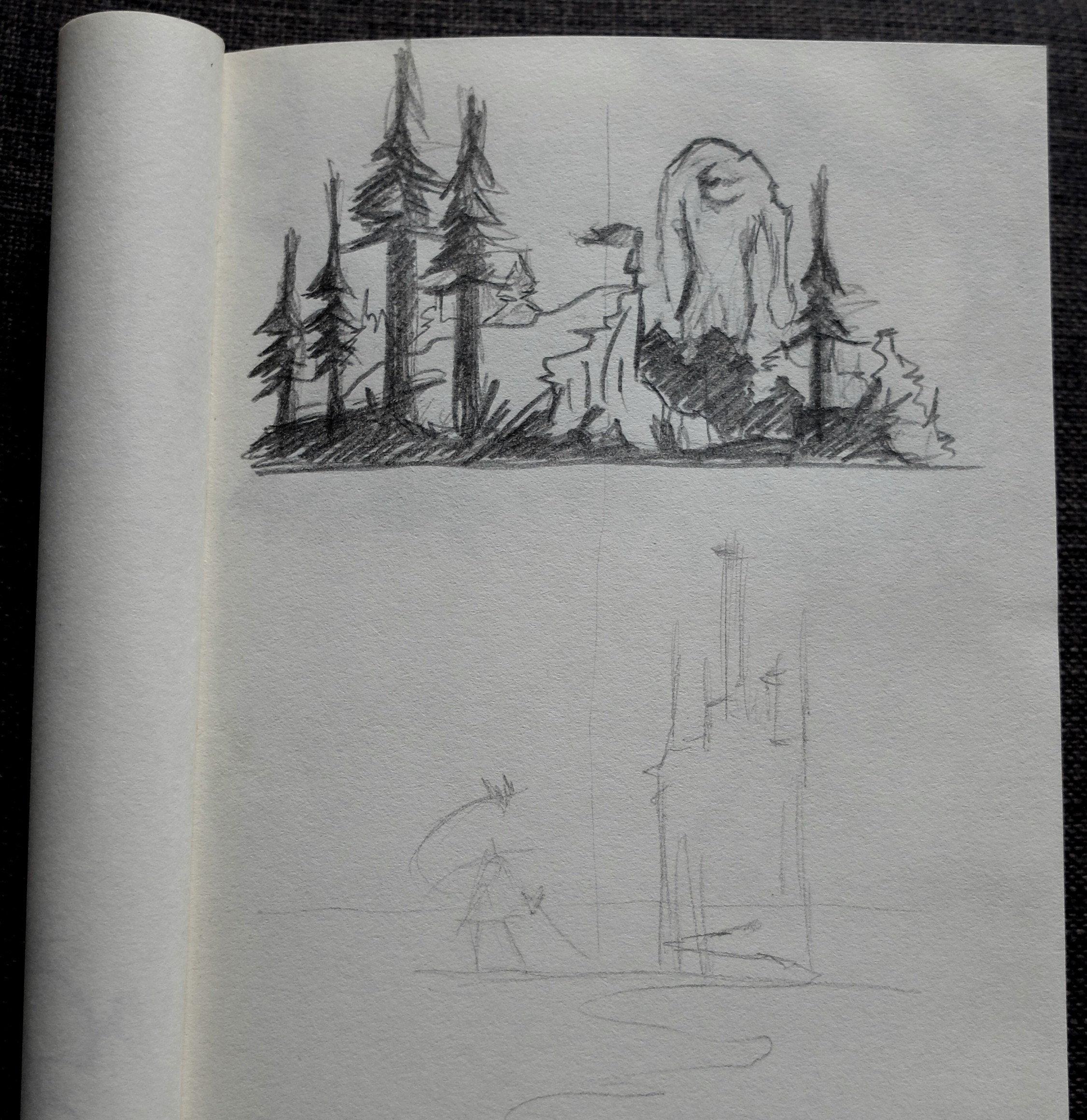 croquis child of light geant papier paper 3D card popup