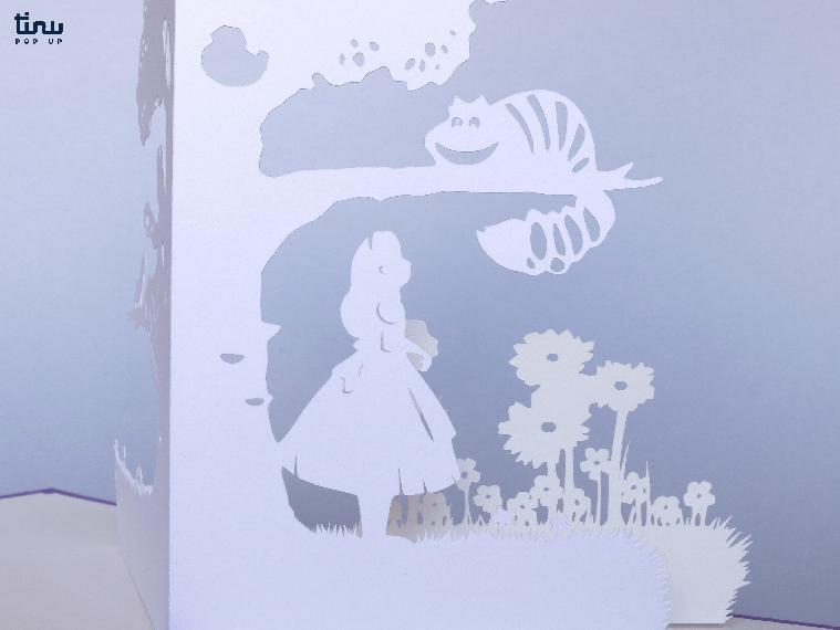 pop up alice wonderland tinu papier paper 3D card popup