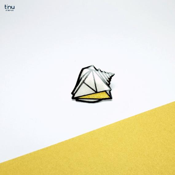tinu pins or coquillage shell papier paper 3D card popup