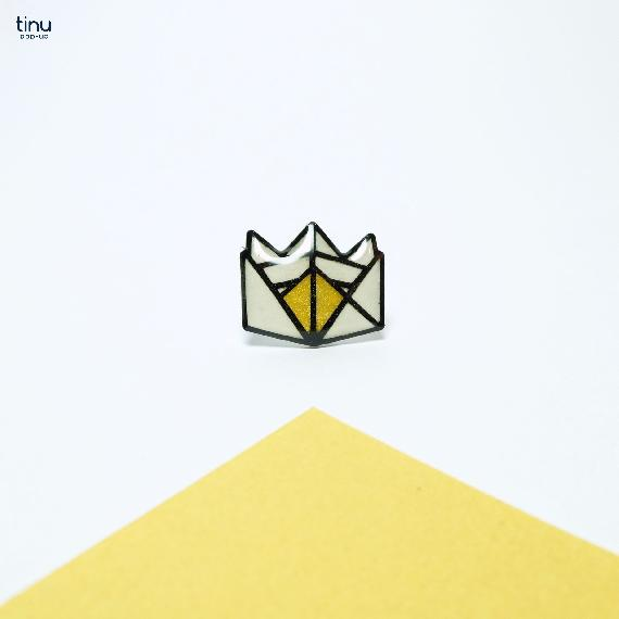 tinu pins or couronne gold papier paper 3D card popup