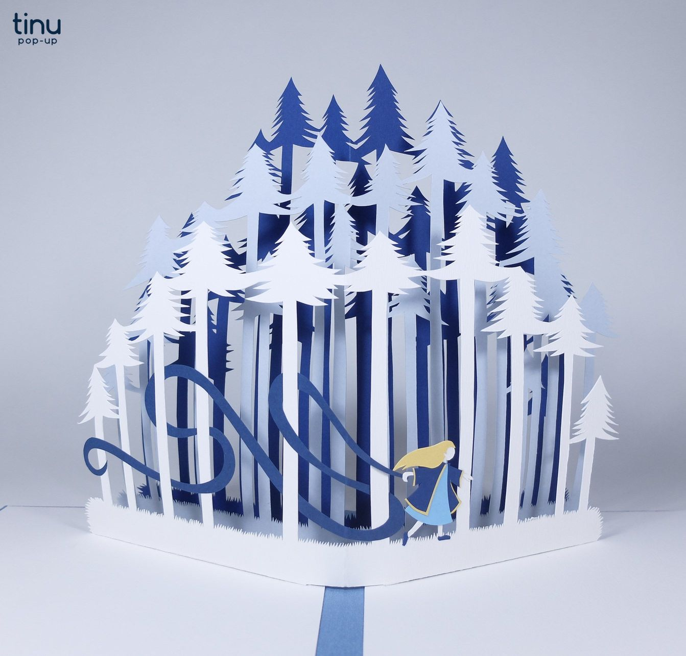tinu site tinu pop up baba yaga russian tale papier paper 3D card popup